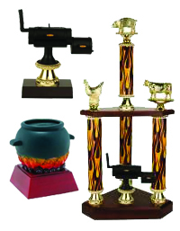 BBQ - Cooking - Cook Off - Chili - Chef - Competition Trophies