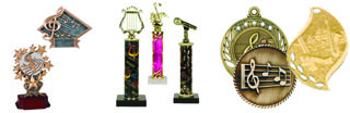 Music and Band Trophies and Medals