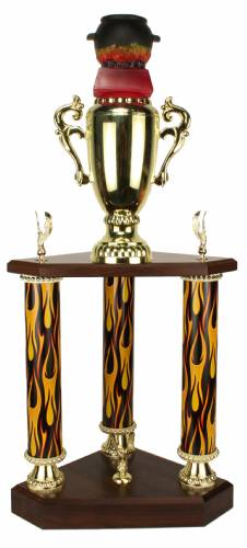 3 Post BBQ - Chili - Cook-Out - Cooking Trophy - 24.5""