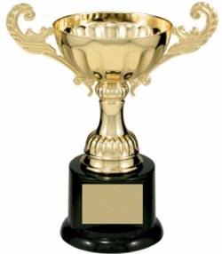 "Series 100 Metal Cup Trophy - Gold - 6.5"" to 9.75"""