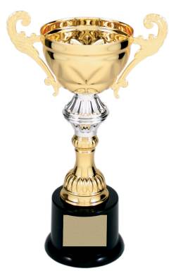 "Series 200 Metal Cup Trophy - Gold/Silver - 8.75"" to 14.5"""