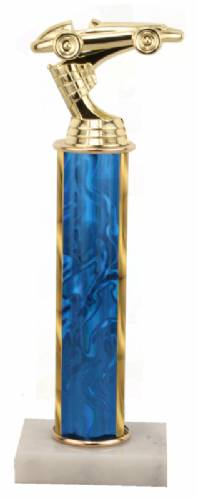 Racing Trophy - Asian Marble Base - Lava Flow - Blue - Choose Your Size