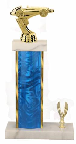 Racing Trophy - Asian Marble Base - Lava Flow - Blue/Gold
