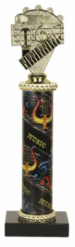 Deluxe Music Trophy - Marble Base - Music Column