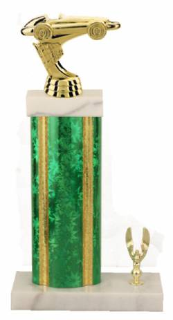 Racing Trophy - Asian Marble Base - Star Blast - Green/Gold