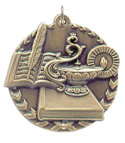 Millennium Series - Lamp of Knowledge Medal 1.75""