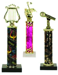 Single Column Trophy - Music | Band