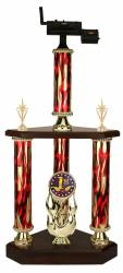 3 Post BBQ Smoker Cooking Trophy - 25.5 ""
