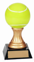 "5.5"" Gold Pedestal Resin Award - Tennis"