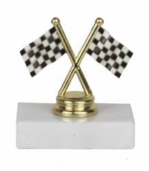 "3.5"" Participant Racing Trophy - Pinewood Derby - Racing Flags"