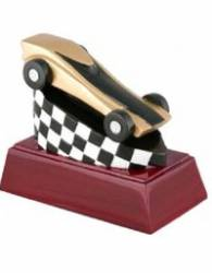 "4"" Pinewood Derby Resin Award - Cherry Color Base"