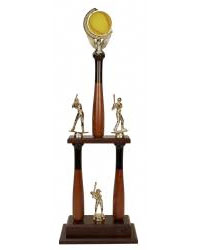 2 Post Trophies - Softball Theme