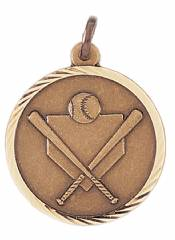 Sunray - Baseball Softball Solid Brass Medal 1.25