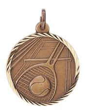 Sunray - Tennis Solid Brass Medal 1.25