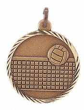 Sunray - Volleyball Solid Brass Medal 1.25