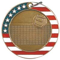Stars and Stripes - Volleyball Medal 2.0